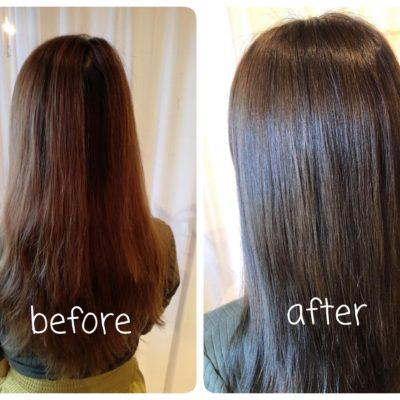 髪質改善カラー・1回目|髪質改善|ツヤ髪|一宮市|ツヤと髪 crim|クリム|トリートメント